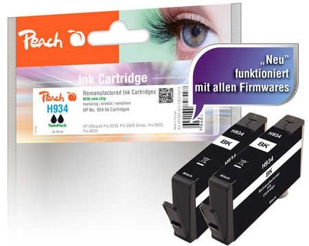 Peach Doppelpack Tintenpatrone schwarz - PI300-621