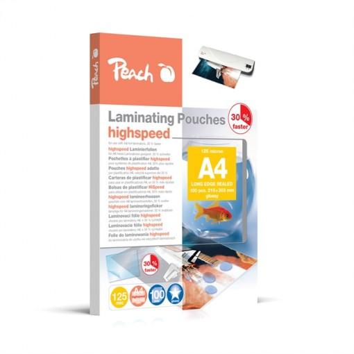 Peach HighSpeed Laminierfolien A4, 125 mic, express, PP525-22, 100 Stk.