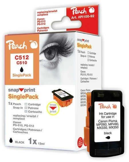 Peach schwarz ohne Druckkopf 1 Stück - PI100-92