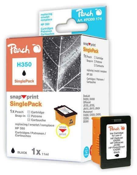 Peach schwarz ohne Druckkopf 1 Stück - PI300-174