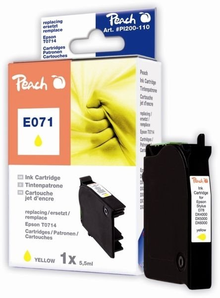 PEACH Tintenpatrone gelb , PI200-110 / T071