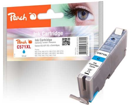 Peach Tintenpatrone XL cyan - PI100-290