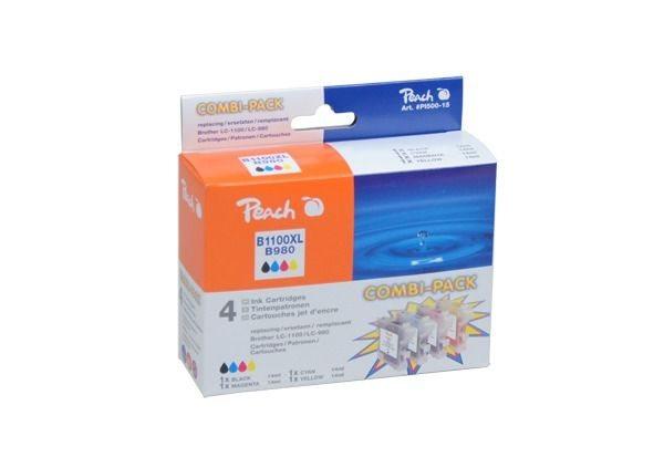 PEACH XL Tintenpatronen Kombipack BK/C/M/Y