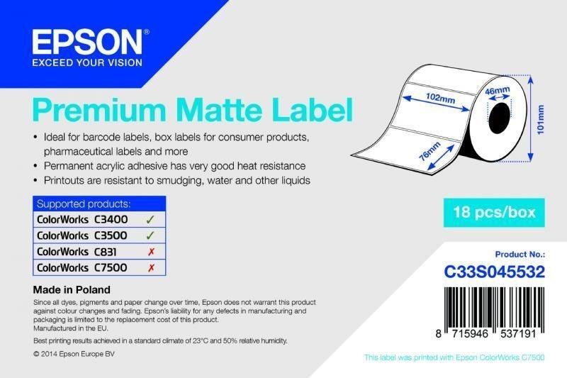 Premium Matte Label - Die-cut Roll - C33S045532