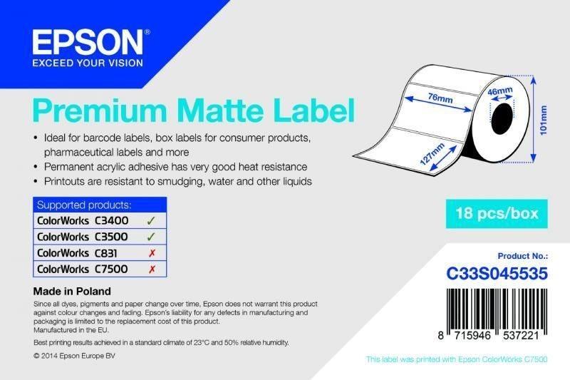 Premium Matte Label - Die-cut Roll - C33S045535
