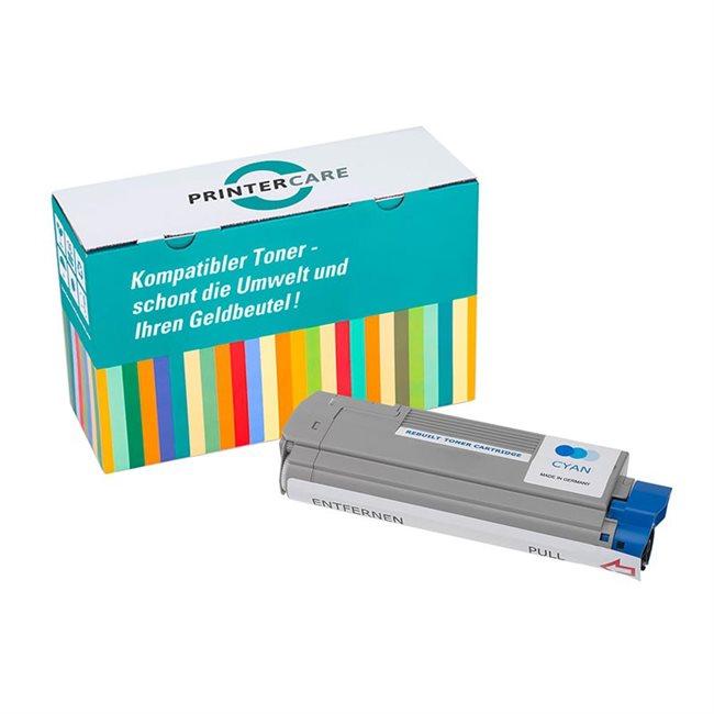 PrinterCare Toner cyan kompatibel zu 43872307