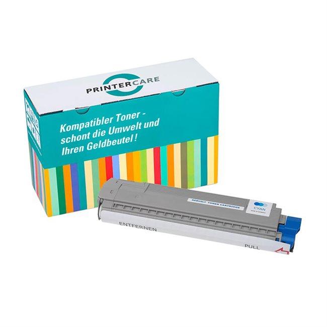 PrinterCare Toner cyan kompatibel zu 44844507
