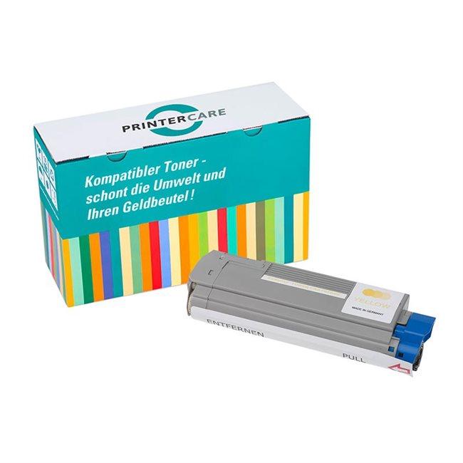PrinterCare Toner gelb kompatibel zu 43865721