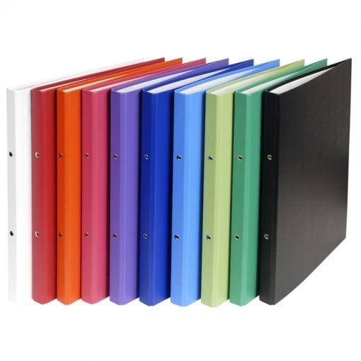 Ringbuch aus festem Karton 1,8mm PP kaschiert, 4 Ringe 15mm, Rücken 20mm, 32x25,6cm für DIN A4