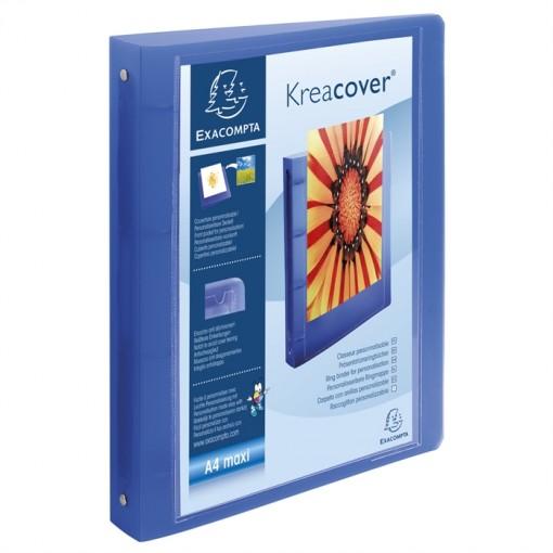 Ringbuch aus festem PP 1000µ, 4 Ringe 30mm, Rücken 40mm, 32x26,8cm für DIN A4 Überbreite - Chromaline Kreacover