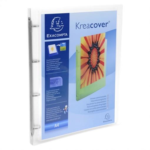 Ringbuch aus PP 500µ, 4 Ringe 15mm, Rücken 20mm, 32x25cm für DIN A4, Chromaline Kreacover