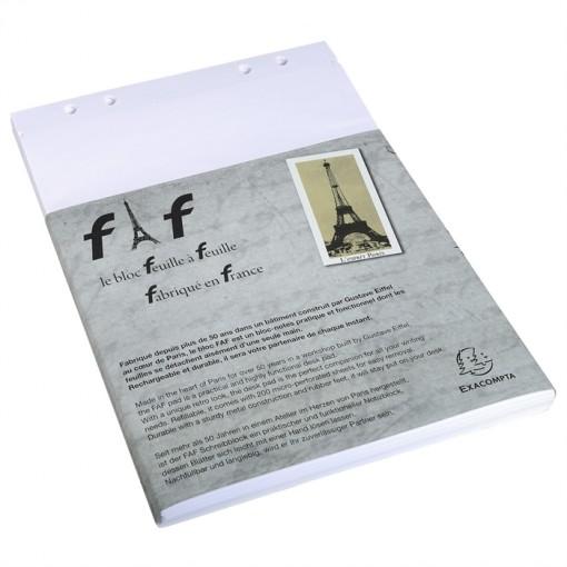 Schachtel mit 5 Einlagen für Block FAF blanko, DIN A4 21x29,7cm