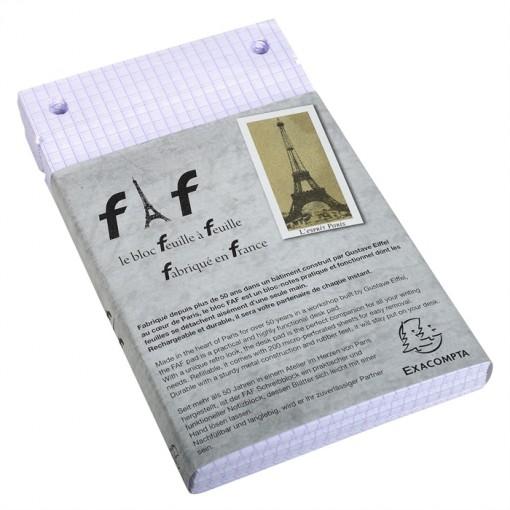 Schachtel mit 5 Einlagen für Block FAF kariert, 18,5x11,5cm