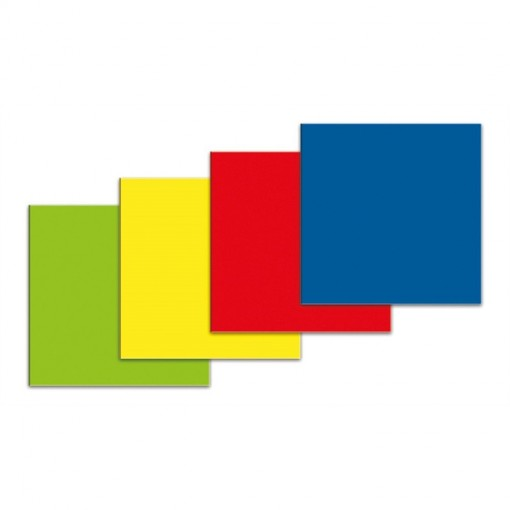 Symbol Quadrat, Satz von 5 Stück 30x30 mm blau