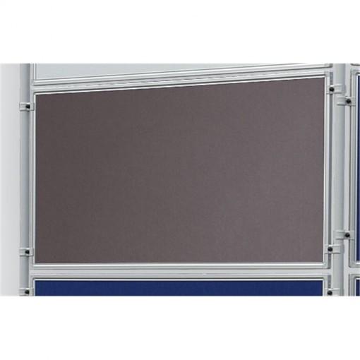 Textiltafel ECO, beidseitig verwendbar, 120 x 90 cm, grau