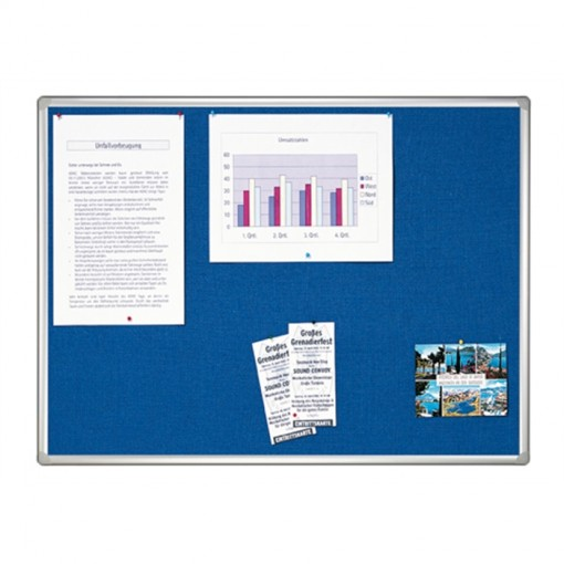 Textiltafel PRO, beidseitig verwendbar, 120 x 90 cm, blau