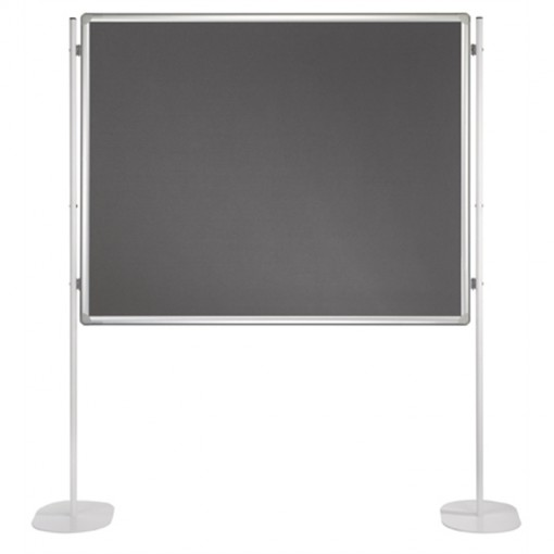 Textiltafel PRO, beidseitig verwendbar, 150 x 120 cm, grau