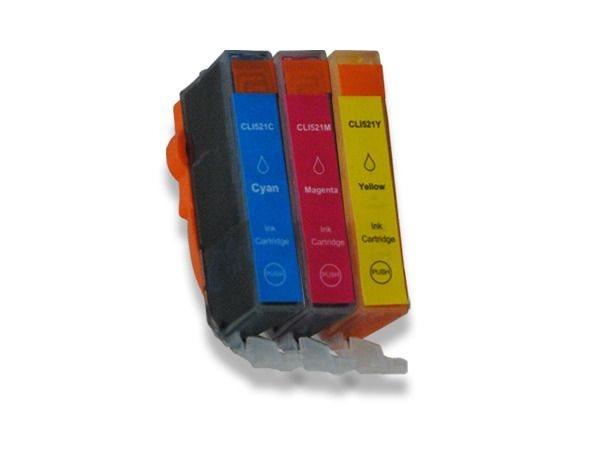 Tinten-Multipack farbig komp. zu Canon CLI-521CMY