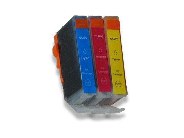 Tinten-Multipack farbig komp. zu Canon CLI-8CMY