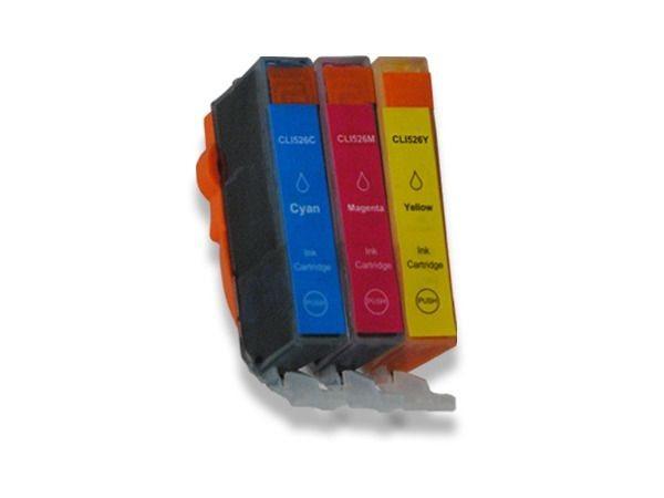 Tinten-Multipack kompatibel zu Canon CLI-526CMY