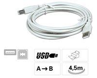 USB - Anschlußkabel Stecker A auf B, 4,5 m