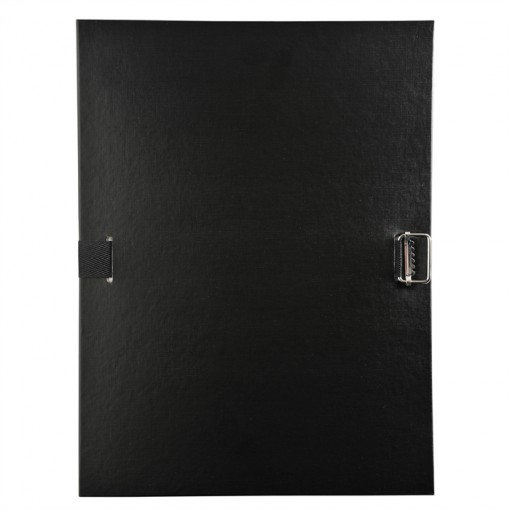 Verstärkter Deckel aus Polypropylen, elegant und stabil. Exzellenter Dokumentenhalt dank der Klappe am unteren Rand.