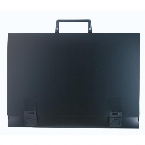 Zeichenmappe mit Griff aus festem PP 1,2mm Rücken 50mm, für Format 32 ,5x50cm