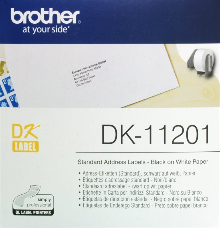 Brother Adress Etiketten 29x90mm Dk 11201 Kaufen Printer Carede