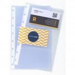 10 Ersatzhüllen für Visitenkartenbuch 75151E, Format DIN A5