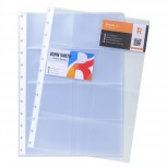 10 Ersatzhüllen für Visitenkartenbuch 75251E, Format DIN A4