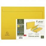 10er Packung Aktenmappen mit Verschlußkappe aus Recycling-Karton 290g Forever, für Format DIN A4