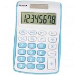 8-stelliger Taschenrechner mit Dual-Power (Solar und Batterie), blau
