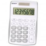 8-stelliger Taschenrechner mit Dual-Power (Solar und Batterie), grau