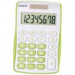 8-stelliger Taschenrechner mit Dual-Power (Solar und Batterie), grün