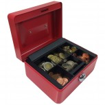 ACROPAQ AG152R - Kleine Metall-Geldkassette 152x123x80mm Rot