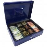 ACROPAQ AG300B - Metall Geldkassette 300x235x90mm Blau