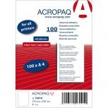 ACROPAQ LABELS - 100 A4 x 1 label = 100 selbstklebende weiße Etiketten 210x297mm