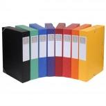 Archivbox Cartobox, flach geliefert Rücken 50mm aus Manilakarton, mit 3 Klappen und Gummizug, 25x33cm für DIN A4