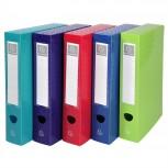 Archivbox mit Druckknopf aus PP 800µ blickdicht, Rücken 60mm, 25x33cm für DIN A4 - OffiX.