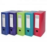 Archivbox mit Druckknopf aus PP 800µ blickdicht, Rücken 80mm, 25x33cm für DIN A4 - OffiX.