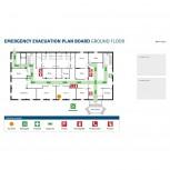 Beschreibbare bedruckte Bleche für Klickrahmen A2, Emergency & Evacuation