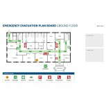 Beschreibbare bedruckte Bleche für Klickrahmen A3, Emergency & Evacuation