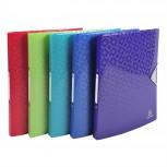 Blickdichtes Ringbuch aus PP 500µ, 2 Ringe 15mm, Rücken 20mm, für DIN A4 - OffiX.