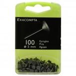 Blisterbox mit 100 Stück Flachkopfnadeln, Ø5mm, Spitze 8mm