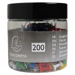 Blisterbox mit 200 Stück Pinnwandnadeln Push Pins, Ø10mm, Spitze 7mm