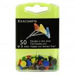Blisterbox mit 50 Stück Flachkopfnadeln, Ø8mm, Spitze 8mm
