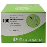 Box mit 100 Stück Zick-Zack Büroklammern, 30x40mm