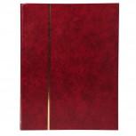Briefmarken Einsteckalbum aus Halbleder, 64 Seiten, 22,5x30,5cm