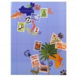 Briefmarken Einsteckalbum Globe Trotter, 16 Seiten, 16,5x22,5cm