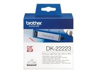 Brother Original - Etikettenrolle schwarz 5cm x 30